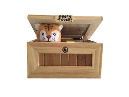 Wholesale Decorative Wooden Animals - 50Pcs Don't Touch Useless Box Leave Me Alone Machine Decorative durable endless fun Cute Tiger Surprises Most Mini Size
