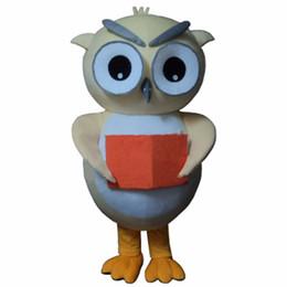 Mascotes da coruja on-line-Coruja traje da mascote dos desenhos animados fancy dress terno traje da mascote frete grátis adulto