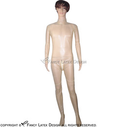 Wholesale zentai silver - Transparent Sexy Latex Catsuit With Zip At Back to crotch Bondage Rubber Bodysuit Fetish Zentai Plus size LTY-0006