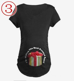 Wholesale Cute Pregnancy Clothes - Summer Pregnant Casual T-shirt Cute Pattern Maternity Tops Pregnancy Shirt Great Gift Tees Clothing size S-XXL