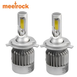 Wholesale 2x H7 - 2X H7 led car headlights H4 H11 H8 H9 H1 H3 hb3 9005 hb4 9006 9004 9007 880 light bulb auto fog lamp 72W Automobiles headlight