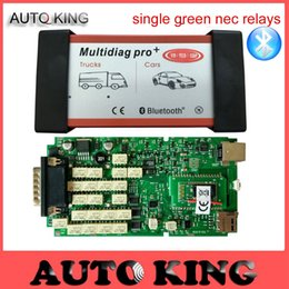 Wholesale Vci Scanner - Wholesale- SALE ! Single green Board PCB Multidiag pro WITH BLUETOOTH vd TCS CDP PRO FOR car truck scanner new vci obd obd2 scanner