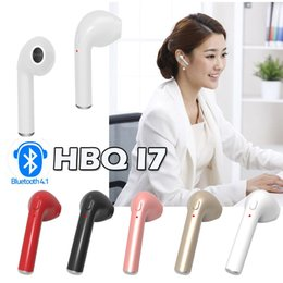 Wholesale X Bluetooth - HBQ I7 Mini Bluetooth Earbud Single Right-Ear Wireless Invisible Headphones Headset With Mic Stereo bluetooth Earphone For iphone X 8