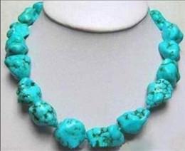 Wholesale Turkey Turquoise - Fashion natural 12x16mm Turkey Turquoise Necklace AAA