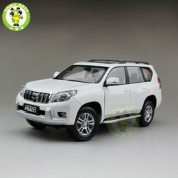 Wholesale Diecast Bus Toy - 1 18 Toyota Land Cruiser Prado Diecast SUV Car Model Toys for gifts collection hobby White No Pattern