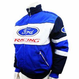 Wholesale Driver Jacket - Wholesale- Men ford jacket MOTO GP motorcycle motorbike biker auto driver winter cotton jackets coat