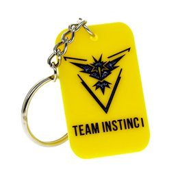 Wholesale Gifts For Gamers - New Arrival 1PC Silicone Dog Tag Keychain with Team Valor Mystic Instinct, Perfect To Use In Any Benefits Gift For Gamer