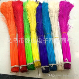 Wholesale Peacock Feather Wedding Decorations - Beautiful Natural Peacock Feather Elegant Decorative Materials Real Feathers Eyes Non Toxic For DIY Clothes Decoration Wedding 1 5jy R