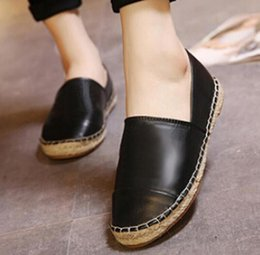 Wholesale Round Toe Ballet Flats - 2016 New Comfort Women espadrilles Patchwork Wool Cashemere Suede Checks Geometric Weave Rope Ballet Flat Fisherman flats Shoes