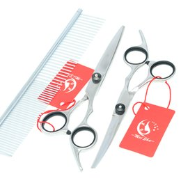 Wholesale Tool Sets For Cheap - 6.0Inch Meisha Cheap Hot Professional Pet Grooming Scissors Set for Dogs Pet Scissors Cutting& Thinning & Curved Dog Shears JP440C,HB0022