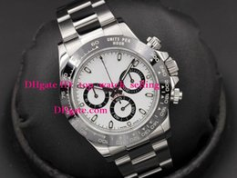 Wholesale Swiss Eta Watches - Luxury Automatic Chronograph Watch Top quality 116500 CERAMIC White Dial 40mm Eta 7750 Watches Automatic Chronograph Swiss Movement