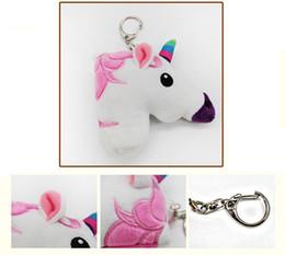 Wholesale Charms For Cellphones - Unicorn Keychain Pendant Plush Keyring Bagpack Bags Handbag Cellphone Charms Key Chain Cute Gift for kids