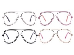Wholesale unique work - Women Men Vintage Fashion Big Frame Eyeglass Frame Optical Clear Lens Fashion Unique Woman Eyeglasses Frames