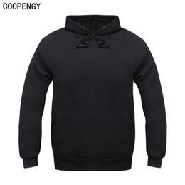Wholesale Thick Fleece Hoodies Wholesale - Wholesale- New Brand Sweatshirt Men Hoodies Fashion Solid Fleece Hoodie Mens Hip Hop Suit Pullover Men's Tracksuits Moleton Masculino