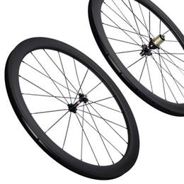 Gewebte fahrradräder online-1-jährige Garantie des freien Verschiffens innerhalb der Carbonfahrradräder 3k der Speichennippel 50mm der Vollcarbonstraßencarbonwebart 11s innerhalb der Nippelcarbonräder