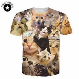 Wholesale wholesale galaxy shirts - Wholesale- 14 cute cat style!summer style women men 3d tee shirt galaxy space cat t shirt funny animal cat eat pizza t shirts harajuku