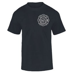 Wholesale Firefighter T Shirts - Wholesale- FIREFIGHTER FIREMEN FIRE DEPT T Shirt Men FIRE RESCUE EMT Tee
