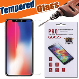 Wholesale 5s Iphone Protector - Tempered Glass Screen Protector Film 9H Hardness Real Premium For iPhone X 8 7 Plus 6 6S 5S Samsung Note 8 5 S8 S7 Edge With Retail Package