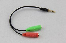 Venta al por mayor 500 unids / lote Macho a 2 Hembra 3.5mm Extensión AUX Auriculares Mic Splitter de Audio Cable Y Splitter Adaptador para HTC One para iPod MP3 desde fabricantes