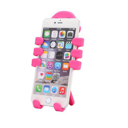 Wholesale New Cell Phone Silicone - New Monkey Car Cell Phone Holder Style Air Vent Car Mount Silicone Variety Holder for Phone Lovely charm cell phone holder