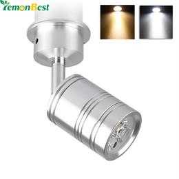 Wholesale Spot Moving Head Light White - Wholesale- LemonBest 3 5W LED Spot Light 360 Degree Rotary Led Downlight with Moving Head Cool Warm White Led Lights for Home AC DC 12V