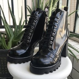 Wholesale Original Items - Ladies high-end boots original item imoirt cowskin vamp sheepskin inside genuine leather tread heel high 9.5cm boot high 12cm