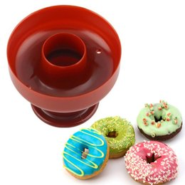 Wholesale Donut Cake - Doughnut Tool Donut Mold Cake Desserts Bread Plunger Cutter Maker Mould New Home DIY Cake Donut Cutter Maker Mould Tools ZA3016