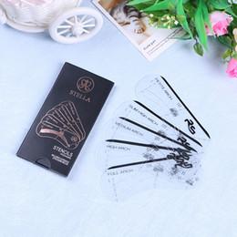 Canada Vente en gros Stella sourcils Pochoirs Outils de maquillage 5 Styles Ensembles Carte à dessin Sourcils 100sets par DHL Gratuit Offre
