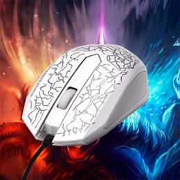 formas de ratón de computadora Rebajas Al por mayor- Pequeño especial en forma de 3 botones USB con cable Luminoso Gamer Computer Gaming Mouse