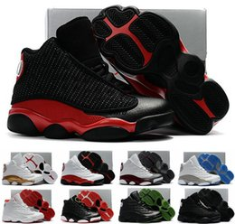 Wholesale Cat Bowl Black - Cheap Children Air Retro 13 XIII 13s Bred DMP Black Cat Kids Boys Youth Basketball Shoes Sneakers Retros jumpman 23 Trainers Shoes Boost