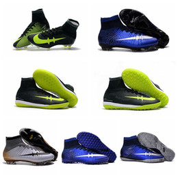 Wholesale Turf Superflys - New Mercurial CR7 Superfly FG IC TF Turf Superflys Football Boots Soccer Boots Mens Soccer Cleats Cristiano Ronaldo Indoor Soccer Shoes 2017