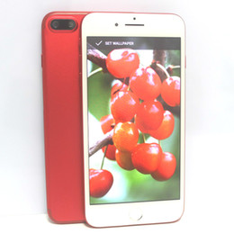 """Wholesale Hd Screen Camera Android Phone - New Red Goophone i7 Plus Quad Core MTK6580 Android 6.0 1GB 12GB 5.5"""" HD 960*540 8MP 3G WCDMA Unlocked Cell Phones"""