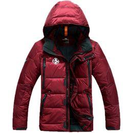 Wholesale Men S Puffer Jacket - Wholesale- Men's winter Hoodies jacket warm fashion male puffer overcoat parka Outwear cotton padded down coat free shipping rlx 380