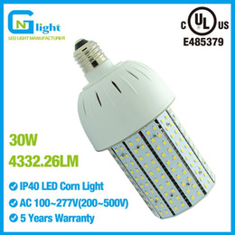 Wholesale Post Degree - E26 E39 30W LED bulb lamps replace metal halid 100W outdoor wall pack fixture 5000K 6000K 4000K 3000K post top fixture 360 degree