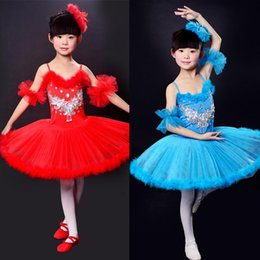 Wholesale Wholesale Tutu Dresses For Women - kids Professional ballet dresses pageant tutus Spaghetti Strap girls dance party dress ballet tutu for children candy color free shipping