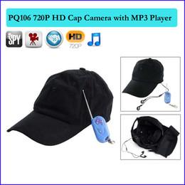 Wholesale Hd Hidden Camera Cap - 8GB HD 1280*720P cap Hidden Camera Baseball Cap,Hat spy camera ,Mini DV,DVR Cap,Camcorder with Remote Control MP3 Player Cam PQ106