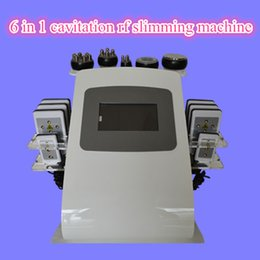 Wholesale Spa Weight Loss Machines - FREE SHIPPING 6 IN 1 Ultrasonic Cavitation Radio Frequency Vacuum RF Lipo Laser Machine Weight Loss for the spa
