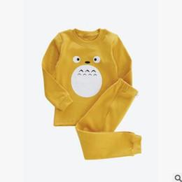 Wholesale Pajamas Long Sleeve Baby Sleepwear - Kids Cartoon Animal Christmas Pajamas for Baby Boys Girls Long Sleeve Totoro Fox Bear Pyjamas Sleepwear Girls Nightwear Baby Pyjamas