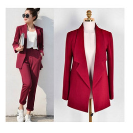 Wholesale Elegant Casual Pants Suits - Pant Suits Women Casual Office Business Suits Formal Work Wear Sets Uniform Styles Elegant Pant Suits