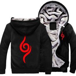 Wholesale Usa Halloween Costumes - Men Winter Hoodies Naruto Hoodie Cosplay Costume Black Coat Autumn Sweatshirt Fleece Outwear Halloween Unifor USA EU Size S-3XL