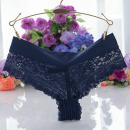 Wholesale Ladies Transparent Briefs - Lace Underwear Women's Panties Pack Sexy Briefs Transparent for Lady