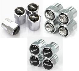 Wholesale Metal Car Emblems - AMG Mini Metal Tire Valve Valves Tyre Dust Cap Caps MT Car Badge Emblem Badges for Audi