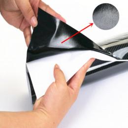 "Wholesale High Gloss Vinyl - Car Styling 50x200cm 19.7""x78.7"" High Gloss 5D Car Sticker Carbon Fiber Vinyl Film Air Free Bubble Motorcycle Auto Car Covers"