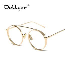 Wholesale Prince Frames - Wholesale- Dollger 2017 New Hipster Vintage Metal Round Glasses Frame Super Glasses Female Male Striped Metal Prince mirror Eyewear s1346