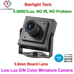 Wholesale Low Lux Mini - Cheapest! LM Security Top 700TVL 3.6mm Board Lens Ultra Low Lux Day and Night Color image Mini Square Camera
