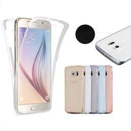 Wholesale Body Sharper - For Samsung Note8 S8 S8 Plus Galaxy G530 Note 5 Clear Soft Silicon TPU 360 Degree Full Body Phone Cover Case Ultra Light Slim Shell