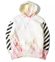 Wholesale Men S Tie Stripe Neck - OFF WHITE Tie-dyed Oblique stripe YEEZUS hoodie men women palace skateboard justin bieber fear of god streetwear hoodie Free delivery
