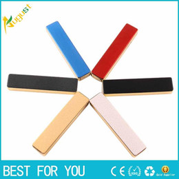 Wholesale Cigarette Lighters Led Lights - New hot Personality creative metal windproof strip lighter USB rechargeable lighter multicolor with LED light