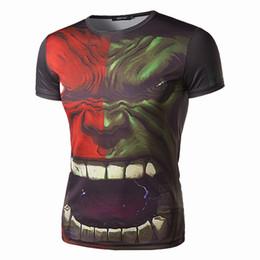 Wholesale Avengers Tshirts - Avengers Fashion Print T Shirts For Boy Summer Individuality Clothing Cotton Men's Brand Tshirts Hip Hop Style Wholesale