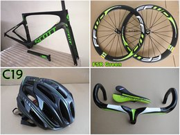 Wholesale Carbon Complete Bike Groupset - Green-Black Foil complete bike With 5800 R8000 Groupset Full Carbon Foil carbon road Frames+Handlebar+50mm carbon wheels free shipping
